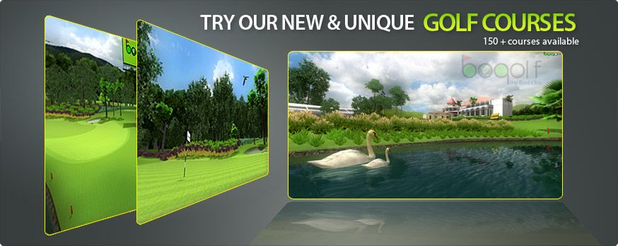 bogolf simulator golf courses