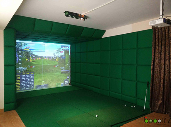 protee home golf simulator